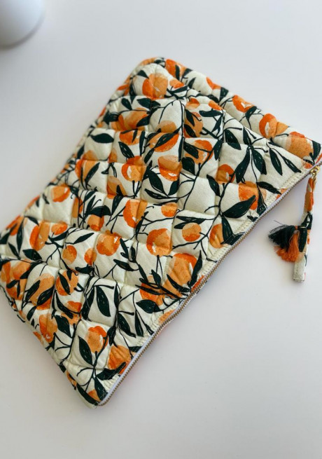 Aldo large size pouch with tangerines