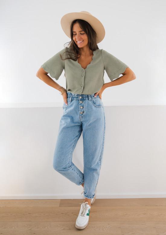 Khaki Kathy blouse