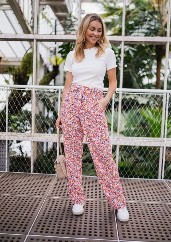Pantalon Zumba à fleurs