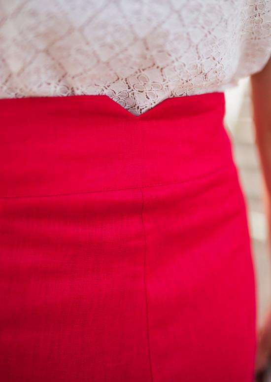 Short Rostie rouge - CREATION