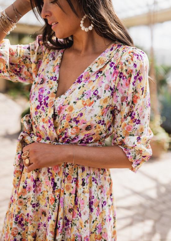 Ellia dress with flowers - CREATION