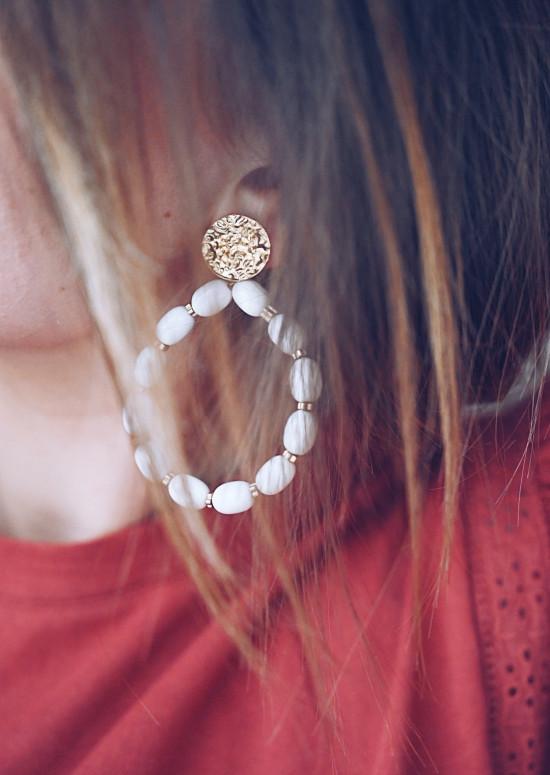 Ecru Radou earrings