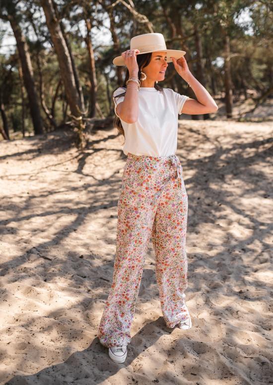 Pantalon Terence à fleurs