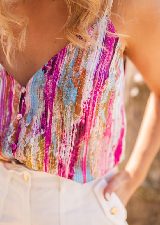 Multicolored Sist cami