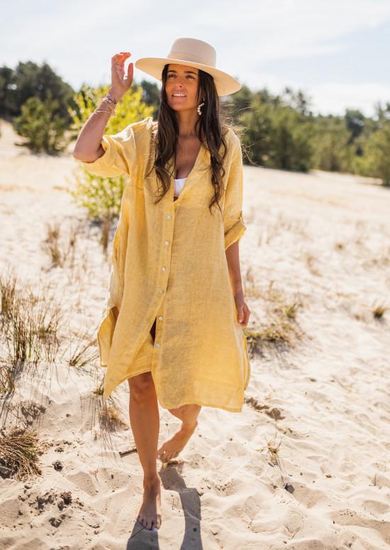Yellow Hope linen shirt