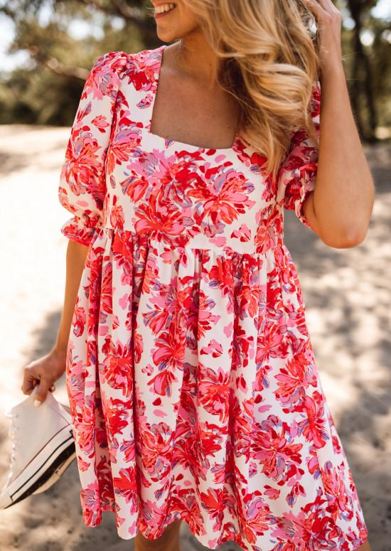 Galina dress with flowers