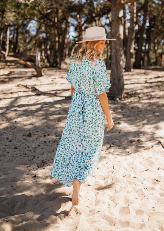 Patterned Giova long dress