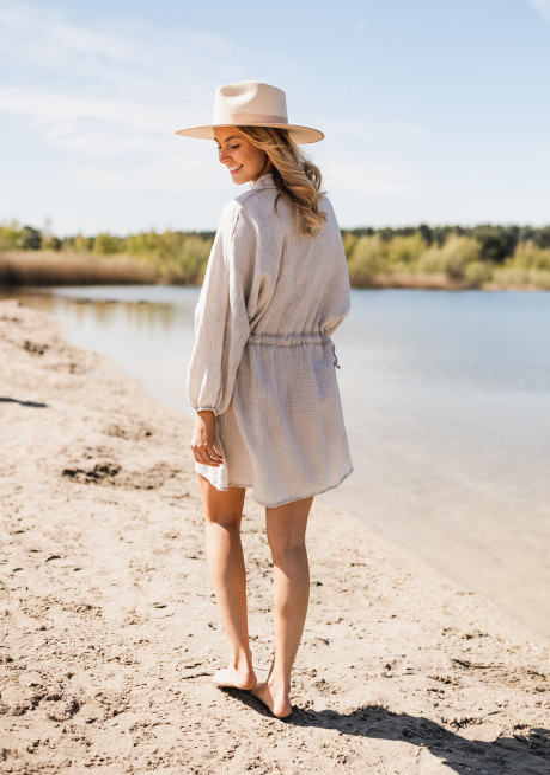 Robe-chemise Beky beige clair