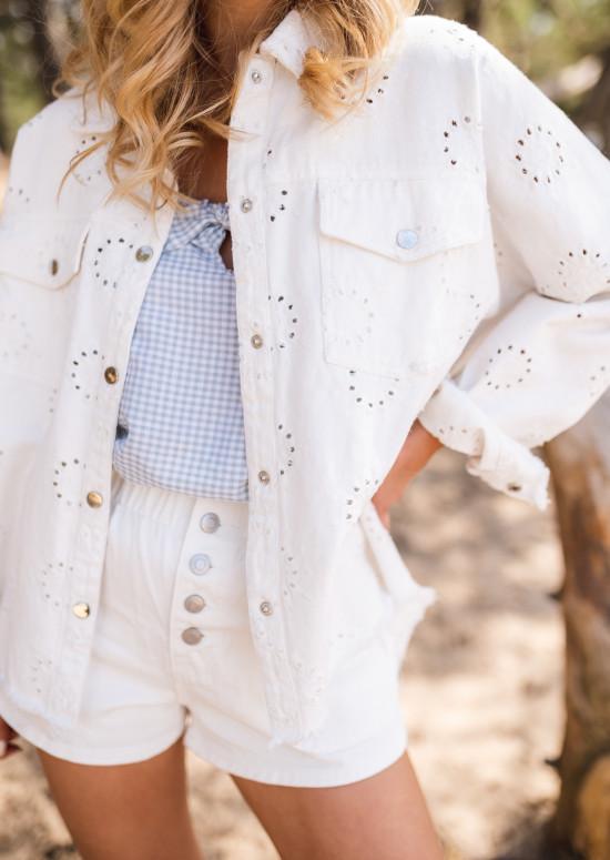 White denim Mahé jacket