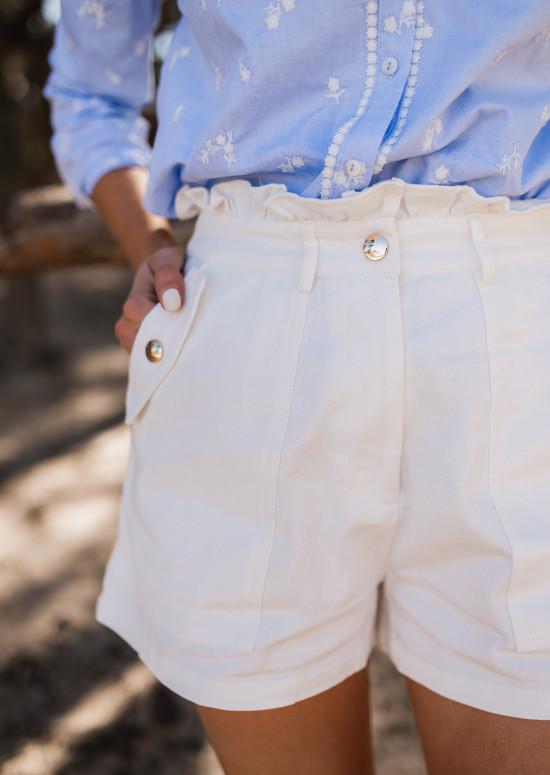 White Evora short
