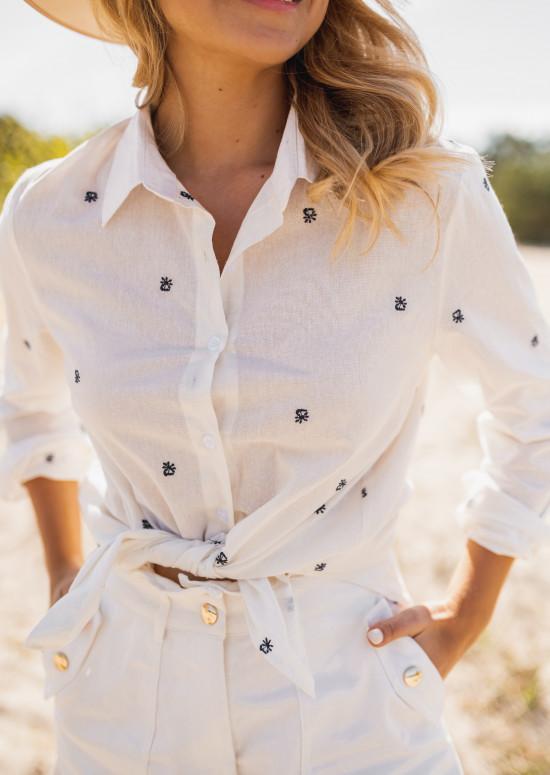 Ecru Vika patterned shirt