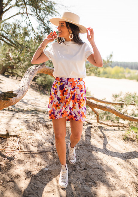 Lexy skirt with flowers - CREATION