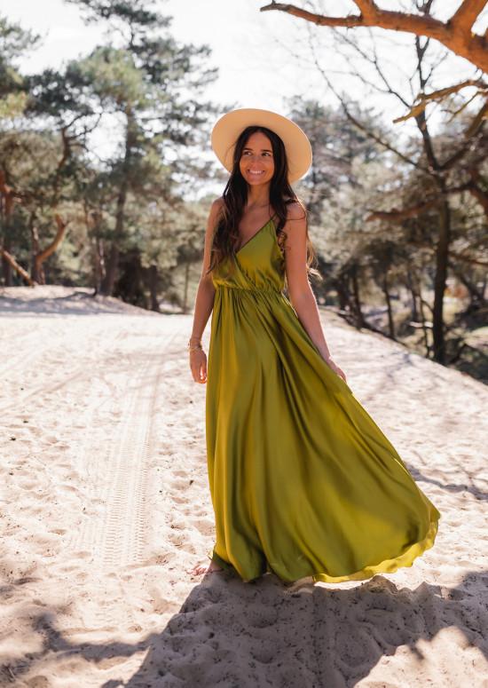 Robe longue Bali olive