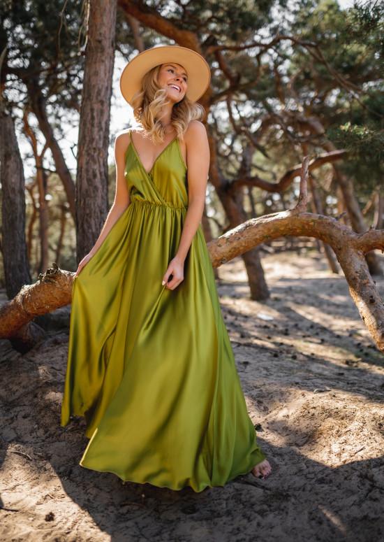 Olive Bali long dress