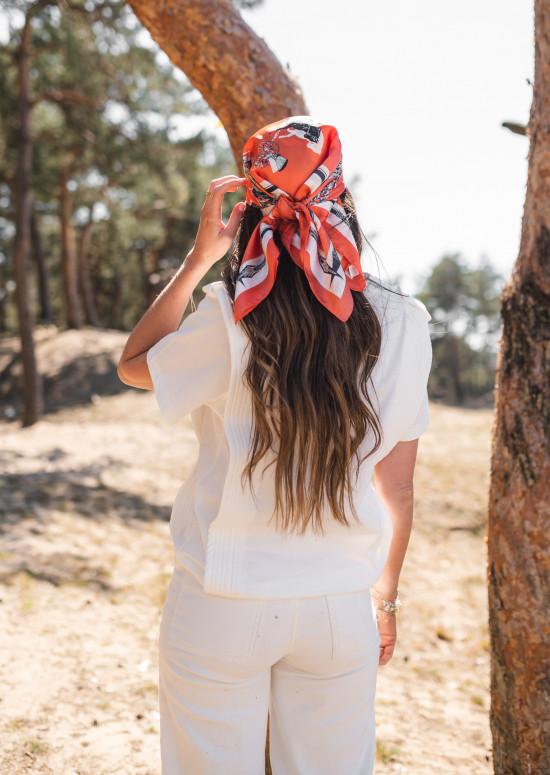Orange Elix scarf