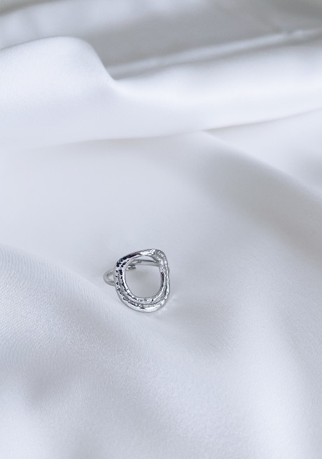 Silvery Chad ring