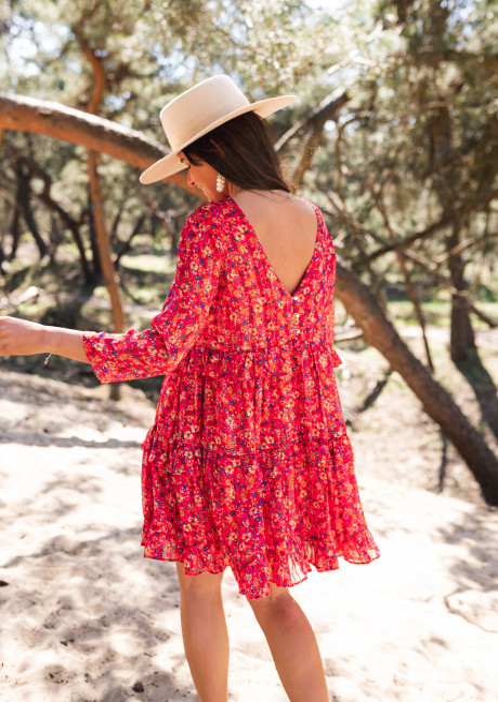 Robe Baby rouge à fleurs - CREATION