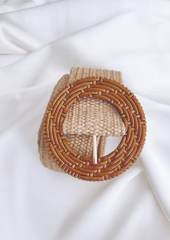 Beige Braid belt