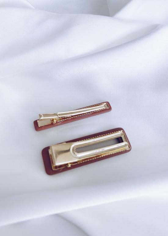 Burgundy Olie hair clip
