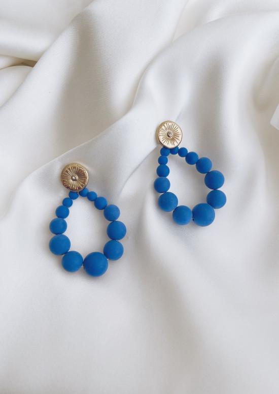Blue Olwen golden earrings
