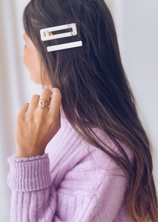 Burgundy Karl hair clip