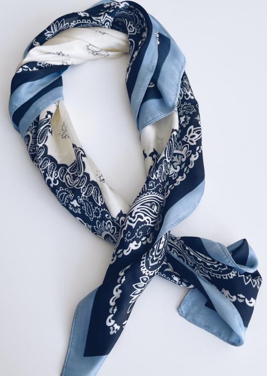 Blue Hira scarf