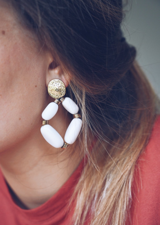 Ecru Naman golden earrings