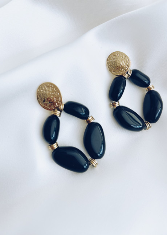 Black Naman golden earrings