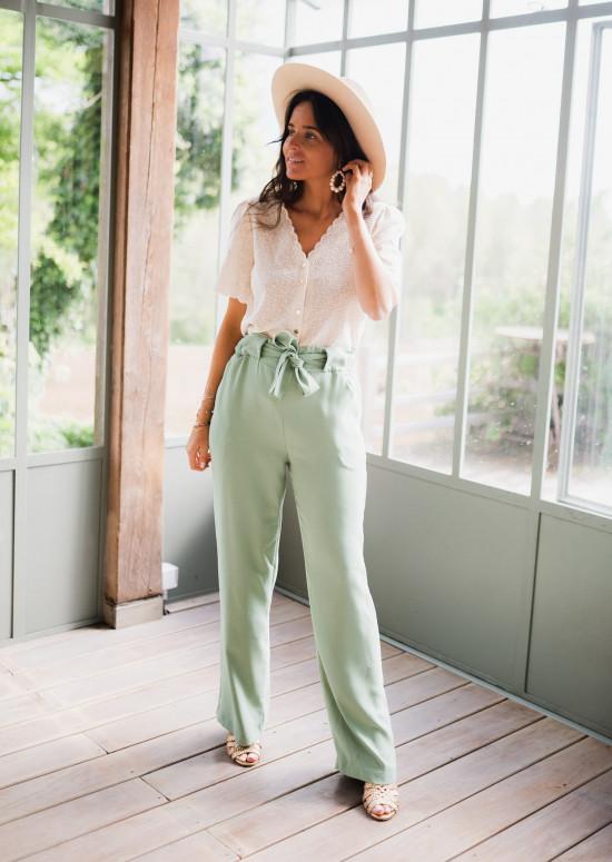Pantalon Trina vert