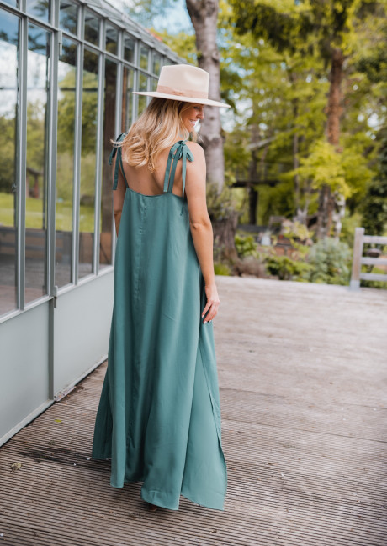 Green Erine long dress - CREATION