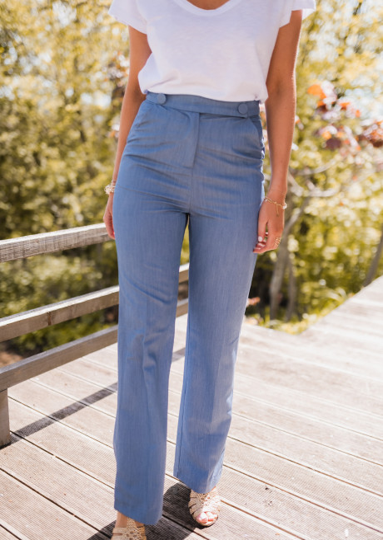 Pantalon Athena bleu