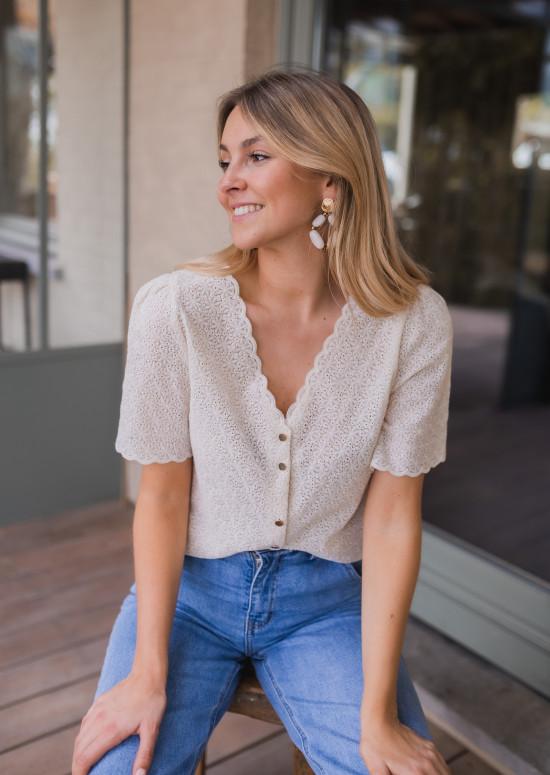 Ecru Raja blouse