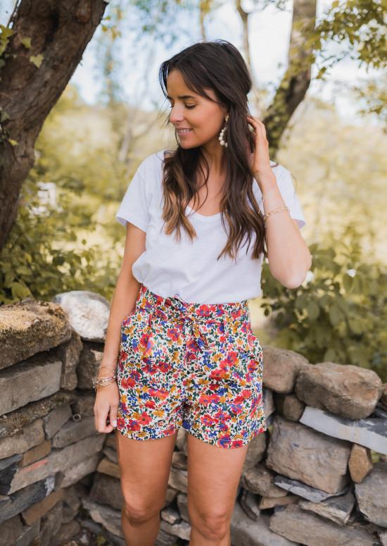 Maeli shirt with flowers