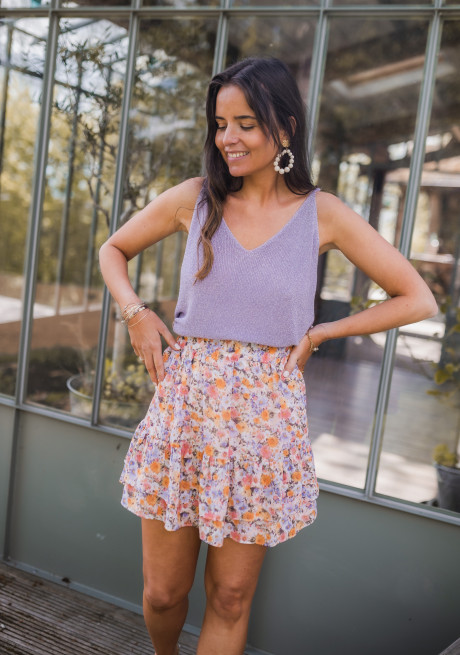 Tink lilac cami with glitter