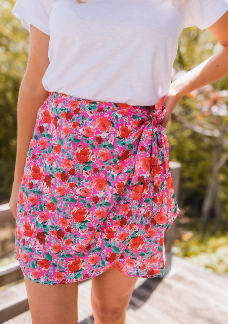 Chama skirt with flowers