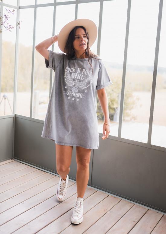 Light grey Paz t-shirt dress