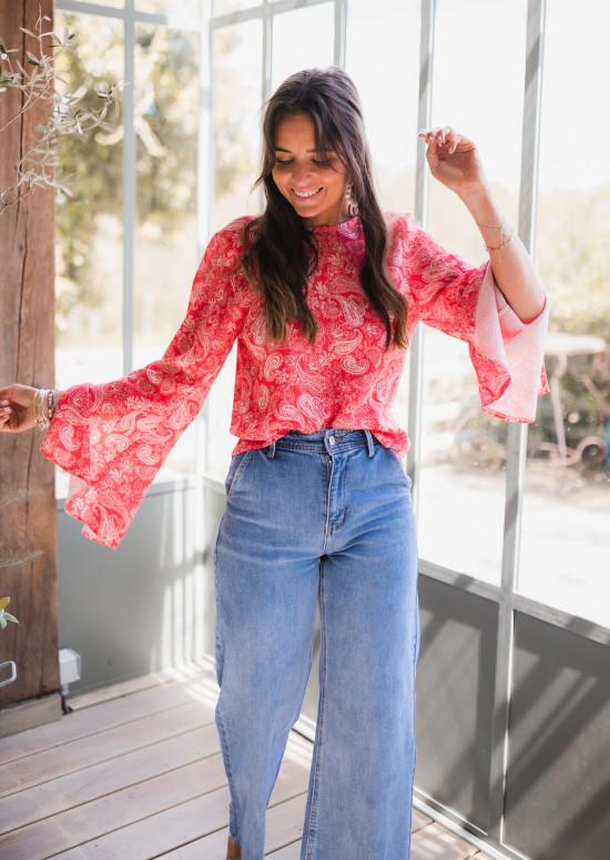 Red Hopi blouse - CREATION