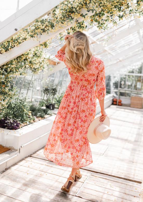 Robe Cecilia à fleurs