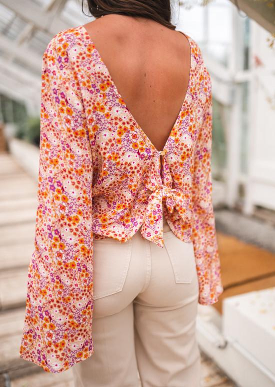 Patterned orange Hopi blouse - CREATION