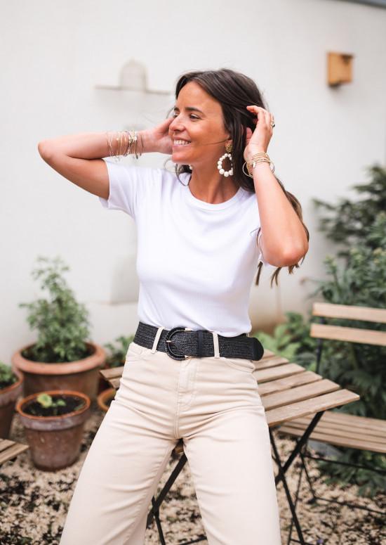 T-shirt Jenny blanc