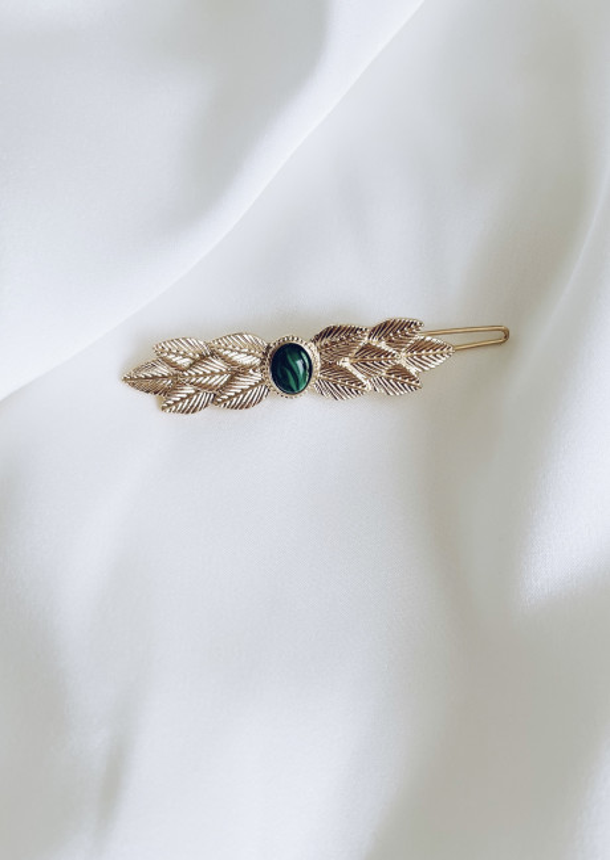 Green Ipoma hair clip