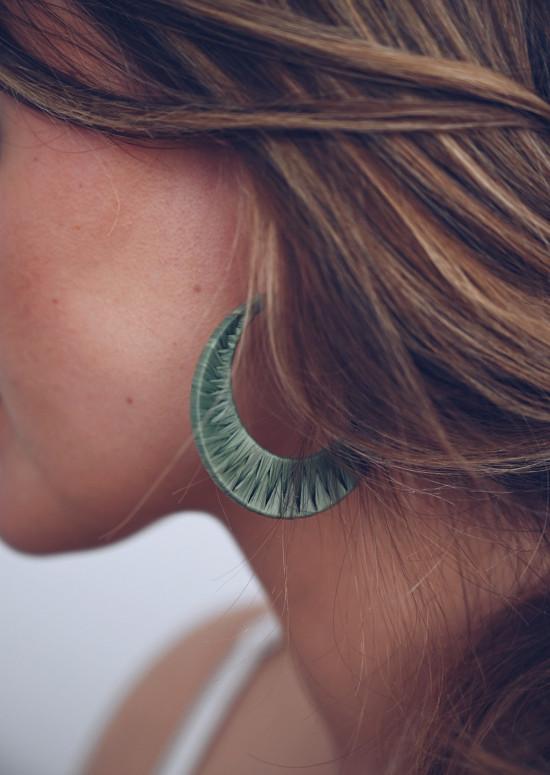 Khaki Cimb earrings