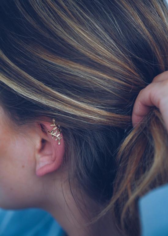 Golden Siron ear cuff