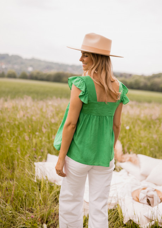 Green Manu blouse