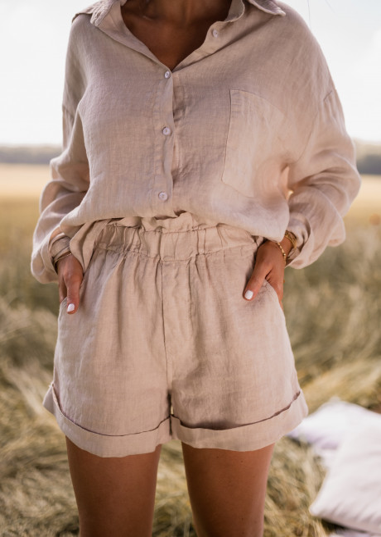 Beige Arkie linen shirt