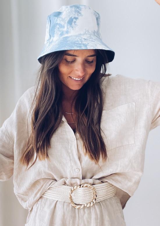 Blue tie & dye Zazou bucket hat