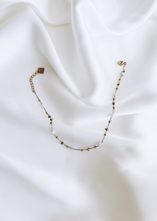 Golden Dalia ankle bracelet