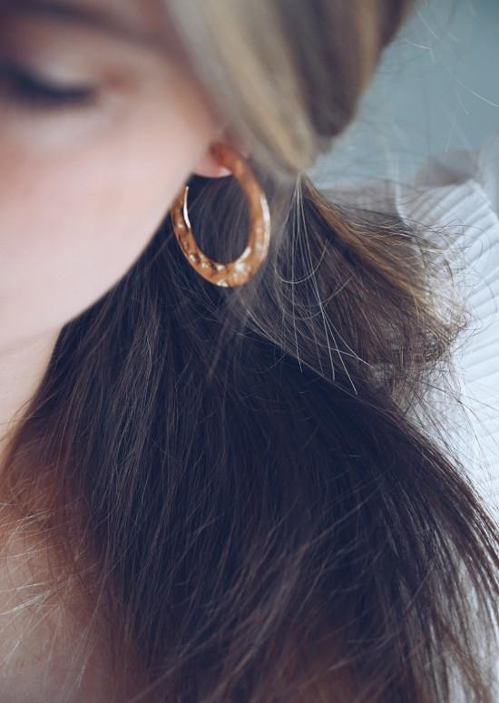 Boucles d'oreilles Maé dorée