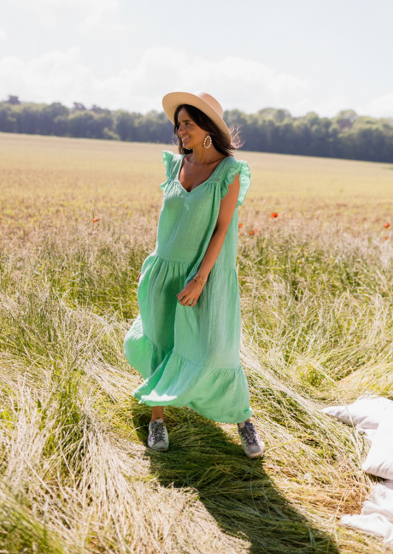 Green Rodia linen dress