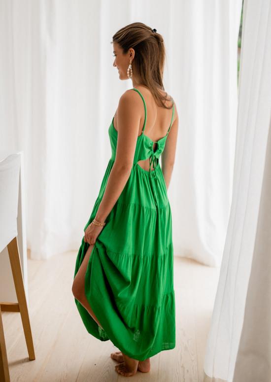 Long Aretha green dress